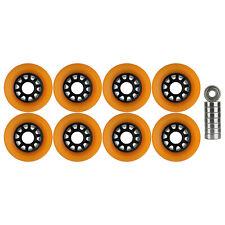 Quad Wheels Derby Roller Skate 63mm x 43mm Orange With Bearings