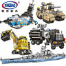 Building Blocks Warship Military Future Dreamer Toys Model Figures Gifts 8in1