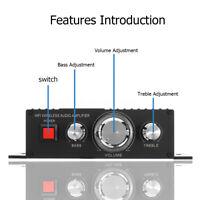 Mini HiFi bluetooth 4.2 Audio Auto Power Amplifier 2.0 Channel Amp Stereo  ❤