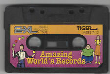 TIGER ELECTRONIC 2XL TALKING ROBOT CASS TAPE PLAYER TOY AMAZING WORLD'S RECORDS