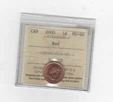 **2005**ICCS Graded Canadian Small One Cent, **MS-66**