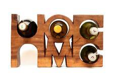 New listing Wooden Handmade 5 Bottles Holder Wine Rack - Home - Free Standing Bar Decor Gift
