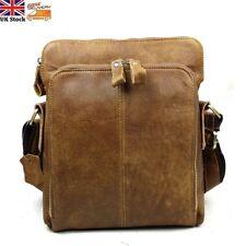 Men's Vintage Genuine Leather Shoulder Bag Briefcase Messenger Crossbody Satchel