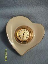 LENOX Porcelain Heart Shaped Clock ~ Beautiful! LQQK here >>