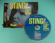 CD Singolo Sting I'm So Happy I Can't Stop Crying  588 498-2 PROMO no lp mc(S23)