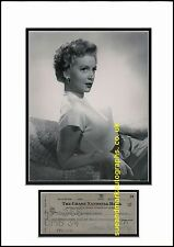 Deborah Kerr Black Narcissus  From Here to Eternity  Cheque Autograph UACC RD96
