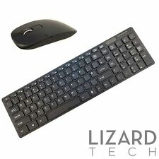 Black Slim Wireless 2.4GHz USB Keyboard and Mouse Set for HP Desktop