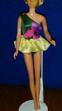 TROPICAL Hawaiian BARBIE Floral Swimsuit BathingSuit #1017 ONLY & Extra 1985 EUC