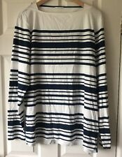 Orlebar Brown Byrne White/Navy Breton Stripe TopSize XL RRP £95