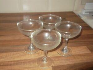 4 VINTAGE MARTINI GLASSES