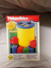 Fisher Price Baby's First Blocks Shape Sorting Toy 6 To 24 Months Old New