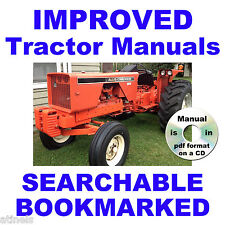 ALLIS CHALMERS 180 One Eighty TRACTOR Service SHOP Maintenance MANUAL on a CD