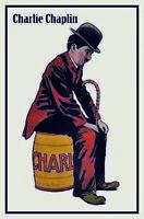Charlie Chaplin Blechschild Schild gewölbt Metal Tin Sign 20 x 30 cm