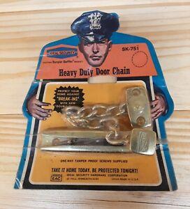 Vintage Ideal Security Heavy Duty Door Chain.