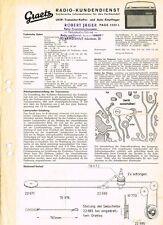 Graetz  Page 1232L  Kofferradio 1963 Schaltplan Manual Original  -