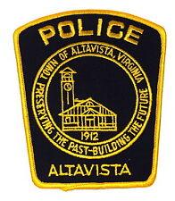 ALTAVISTA VIRGINIA VA Police Sheriff Patch TOWN SEAL CLOCK TOWER VINTAGE OLD MES