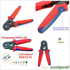 Portable 0.25-6mm² AWG 23-10 Car Terminal Crimping Tool Ferrule Wire End Pilers