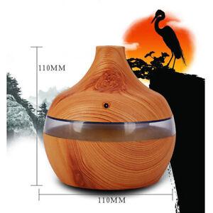 300ml Humidificador Ultrasonico Aroma Difusor LED Aromaterapia Aceite Esencial