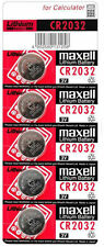 5 x cr2032 Hitachi Maxell 3v Litio Moneta Cella Pulsanti Batterie ~ made in Japan