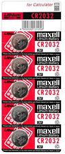 5 X CR2032 Hitachi Maxell Pilas botón de celda de moneda de litio 3V ~ hecho en Japón