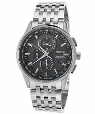 Citizen At8110-53e Mens Atomic World Time Chronograph Eco-drive Watch