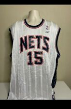 Vince Carter Reebok New Jersey Nets Authentic Home White Jersey Size 2XL