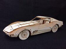 Découpe Laser Bois Chevrolet Corvette Stingray/3D/Modèle Puzzle Kit