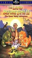 The Land Before Time II: The Great Valley Adventure (VHS, 1994, Clamshell)