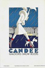 Original vintage poster print CANDEE AMERICAN SNOW BOOTS 1929