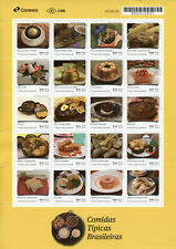 More details for brazil gastronomy stamps 2019 mnh upaep typical brazilian meals foods 20v m/s