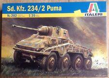 Italeri 1/35 German Sd. Kfz. 234/2 Puma Model Tank Kit #202 New Sealed Rare