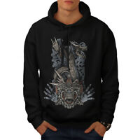 Wellcoda Japanese Monster Mens Hoodie, Tradition Casual Hooded Sweatshirt