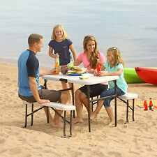 Lifetime Portable Folding Picnic Bench Recreation Table Set