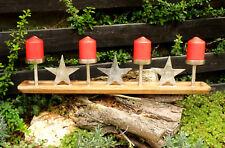 Stern Kerzenleuchter Kerzenhalter Kerzentablett Adventskranz Holz Metall 75 cm