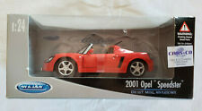 WELLY MODELS -  2001 OPEL SPEEDSTER - BRIGHT RED - 1/24 SCALE MODEL CAR - TY3481