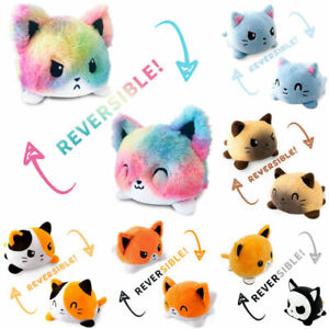 Cute Double-Sided Flip Reversible Unicorn Cat Plush Toys Funny Animals Doll Gift
