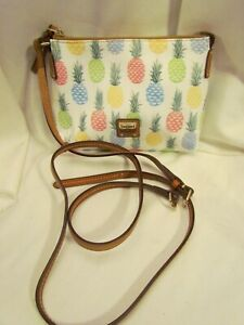Dooney & Bourke Printed Coated Cotton Pouchette PINEAPPLE Handbag