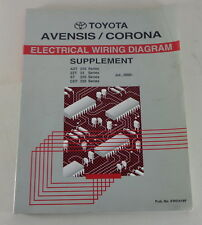 manual electrical wiring diagram toyota avensis/corona from 07/2000