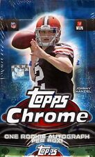 2014 Topps Chrome Football Hobby Factory Sealed Box Jimmy Garoppolo Rookie Card