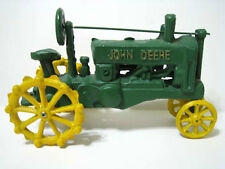 "John Deere ® Toy Cast Vintage Antique Tractor - 11"" Wide - Heavy!"