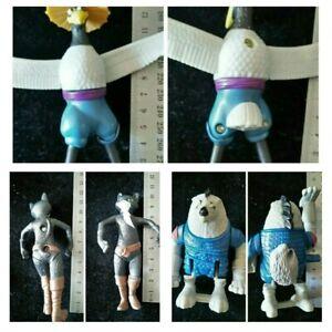 Kung Fu Panda 2- Wolf Boss and crane- McDonald's Toys - Toy Figure +kitty softpa