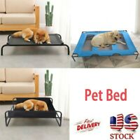 Breathable Iron Art Dog Bed Detachable Camp Bed Kennel Pet Cot Elevated Pet Bed