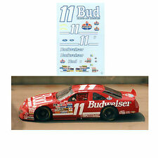 Bill Elliott 1992 #11 Budweiser 1/64 scale decal Afx Tyco Lifelike Autoworld