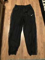 Vintage Nike Nylon Pants Leg Zippers Clima-fit Embroidered Swoosh