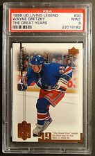 1999 U.D. LIVING LEGENDS WAYNE GRETZKY THE GREAT YEARS #30 PSA 9 POP 2  (179)