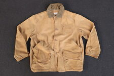 Vintage LL Bean Script Logo Canvas Chore Jacket Size M S Coat Made in USA Maine