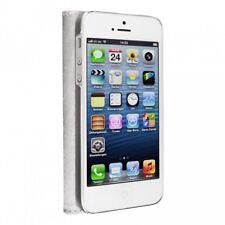 Caso de la cubierta del caso Artwizz SeeJacket de cuero para iPhone blanco 5S 5