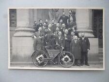 Ansichtskarte Karlsruhe Neureut Personengruppe Pendelverkehr Fahrrad 1 (Nr.618)