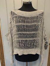 ALL SAINTS BEX JUMPER Oversized Womens Grey Gray Jumper Sweater Size 6 Linen
