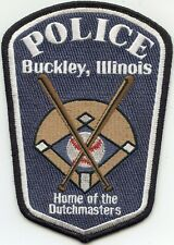 BUCKLEY ILLINOIS IL Home of The Dutch Masters POLICE PATCH